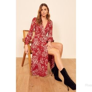 Reformation Susanna Bryce Wrap Dress